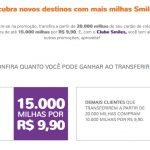 Acredite se quiser: promoção Smiles transfira 20 mil milhas e compre 15 mil por R$ 9,90 tem milhas bônus válidos por 1 mês!