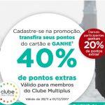 Bônus 20% ou 40% cartões Caixa, Porto Seguro e outros, para o Multiplus Fidelidade