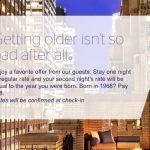 Promoção da Starwood Hotels oferece a segunda diária pelo valor de seu ano (dois dígitos) de nascimento