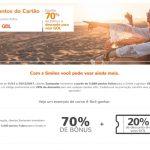 Bônus 70% Santander para o Smiles + 20% de desconto em voos Gol
