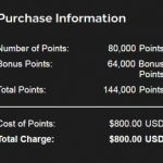 Hilton Honors com 80% de bônus na compra de pontos: 144 mil pontos por USD 800 (~R$ 2.978,64).