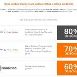 Bônus Livelo BB ou Livelo Bradesco 60%, 70% ou 80% para o Smiles