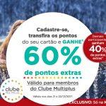 Bônus 40% ou 60% Itaú para o Multiplus Fidelidade