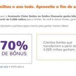 Bônus 50% ou 70% cartões de crédito para o Smiles