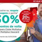 Multiplus Fidelidade oferece 20% ou 30% de points back nos resgates de passagens, só hoje