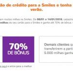 Bônus 60% ou 70% cartões de crédito para o Smiles