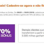 [Prorrogado] Bônus 60% ou 70% cartões de crédito para o Smiles
