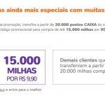 Clientes Caixa transferem 20 mil milhas ou mais para o Smiles e compram 10k ou 15k milhas por R$ 9,90