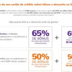 Bônus cartões de crédito para o Smiles 50% ou 65% + desconto para comprar milhas por R$ 350 ou R$ 245 o bloco de 10k (até o limite de 30k milhas)