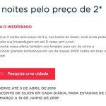 Promoção Accor Reserve 3 noites pelo preço de 2: desconto efetivo fixo de 33% sobre a melhor diária flexível