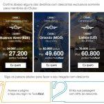 Resgate de passagens internacionais com 20% de desconto para associados do Clube Tudo Azul