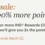 Promoção IHG com 100% de bônus na compra de pontos
