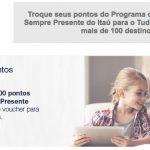 Bônus 100% Itaú para o Tudo Azul – transfira no mínimo 50 mil pontos, ganhe um voucher para comprar mais 50 mil pontos por R$ 100
