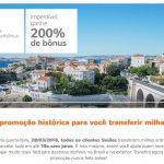 Promoção Smiles transferência de milhas entre contas (ou reativação) com 200% de bônus: lotes de 10 mil milhas por R$ 250. E uma cutucada (de leve) no Multiplus…