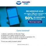 Só hoje: recarregue seu celular TIM com Mercado Pago e ganhe 50% de desconto (limitado a R$ 15)