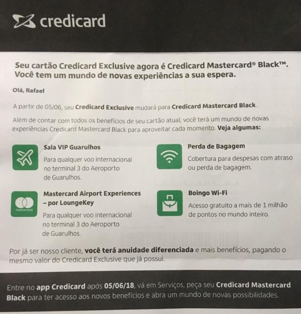 Dúvida do leitor: meu Credicard Exclusive será substituído