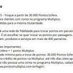 Santander aumenta para 30 mil pontos a quantidade *MÍNIMA* para transferência para o Multiplus Fidelidade!