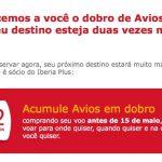 Ganhe o dobro de Avios em voos Iberia