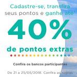 Bônus 10% cartões de crédito para Multiplus (20% a 40% para membros do Clube)