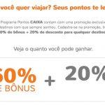 Smiles: bônus 60% cartões Caixa + 20% de desconto para voos Gol