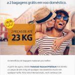 Boa notícia: clientes Tudo Azul Itaucard Platinum agora têm direito a 2 bagagens grátis em voos domésticos