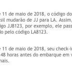 Latam diminuirá disponibilidade de checkin online antecipado de 72 horas para 48 horas antes do voo