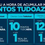 Acumule 6, 10 ou 12 pontos Tudo Azul por real nas Casas Bahia