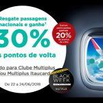 Mix: Points Back 20% ou 30% Multiplus Fidelidade; Descontos 25% na Avianca Brasil; Promoção de quíntuplo de milhas Smiles (5X) em reservas de hotéis
