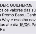 Santander enviando SMS dizendo que baixou as metas da promoção de bônus em triplo?