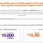 Smiles: transfira 20 mil pontos e compre 15 mil milhas por R$ 9,90 (~ 75% de bônus)