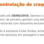 Prorrogada até hoje a promoção de bônus 100% cartões de crédito para o Smiles, para clientes do Clube ou Diamante