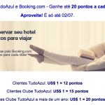 Tudo Azul quebra recorde e dá até 20 pontos por dólar nas reservas de hotéis feitas no Booking.com