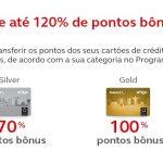 Bônus de 50%, 70%, 100%, 120% ou 150% cartões de crédito para o Amigo Avianca